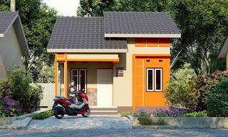 Tampak Depan Rumah Minimalis lebar 6 panjang 10 Full Bangunan