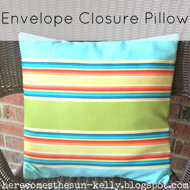 Here Comes the Sun: Envelope Closure Pillow