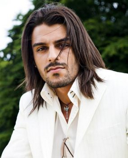 Great Long Hair Straightened Hairstyles For Guys 47