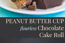 FLOURLESS CHOCOLATE PEANUT BUTTER CAKE ROLL