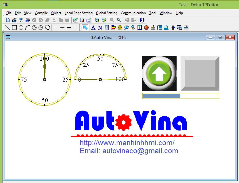 Hướng dẫn lập trình màn hình cảm ứng HMI Delta TP70P