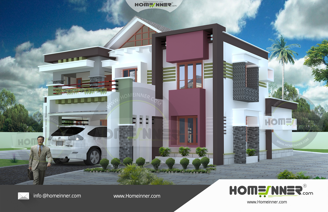 4BHK House plan 2400 sq ft readymade villa floor plan