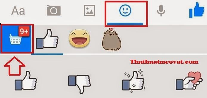 Tải nhãn dán Facebook trên điện thoại