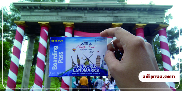 Boarding Pass The World Landmarks Jogja | adipraa.com