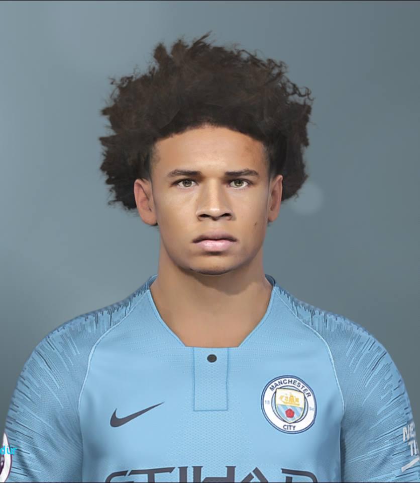 PES 2019 Leroy Sané face by EmreT