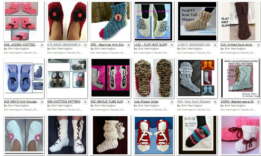 HECTANOOGA PATTERNS: Free Knitting Pattern - Unisex tall slippers ...