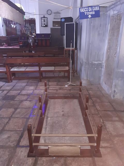 Ancienne tombe de Vasco de Gama à Cochin