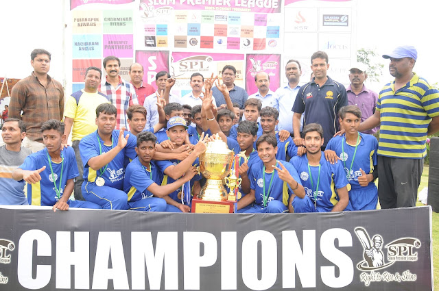 Chanchalguda Sultans become Champions of Slum Premier T.20 Cricket League