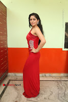 Actress Zahida Sam Latest Stills in Red Long Dress at Badragiri Movie Opening .COM 0028.JPG