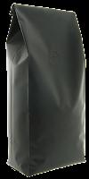 Black quadro coffee bag with valve