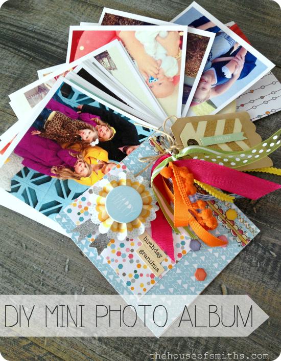 DIY Mini Photo Album Gift Idea
