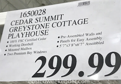 Deal for the Cedar Summit Greystone Cottage Playhouse at Costco