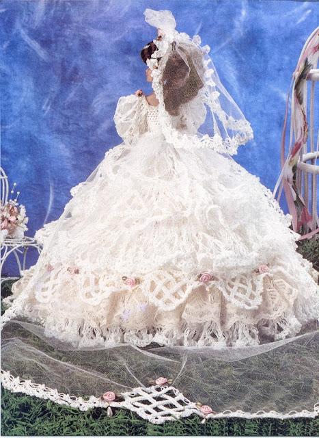 Vestidos de noiva para Barbie - Bridal dresses for barbie dolls - Para inspirar nossas criações 14