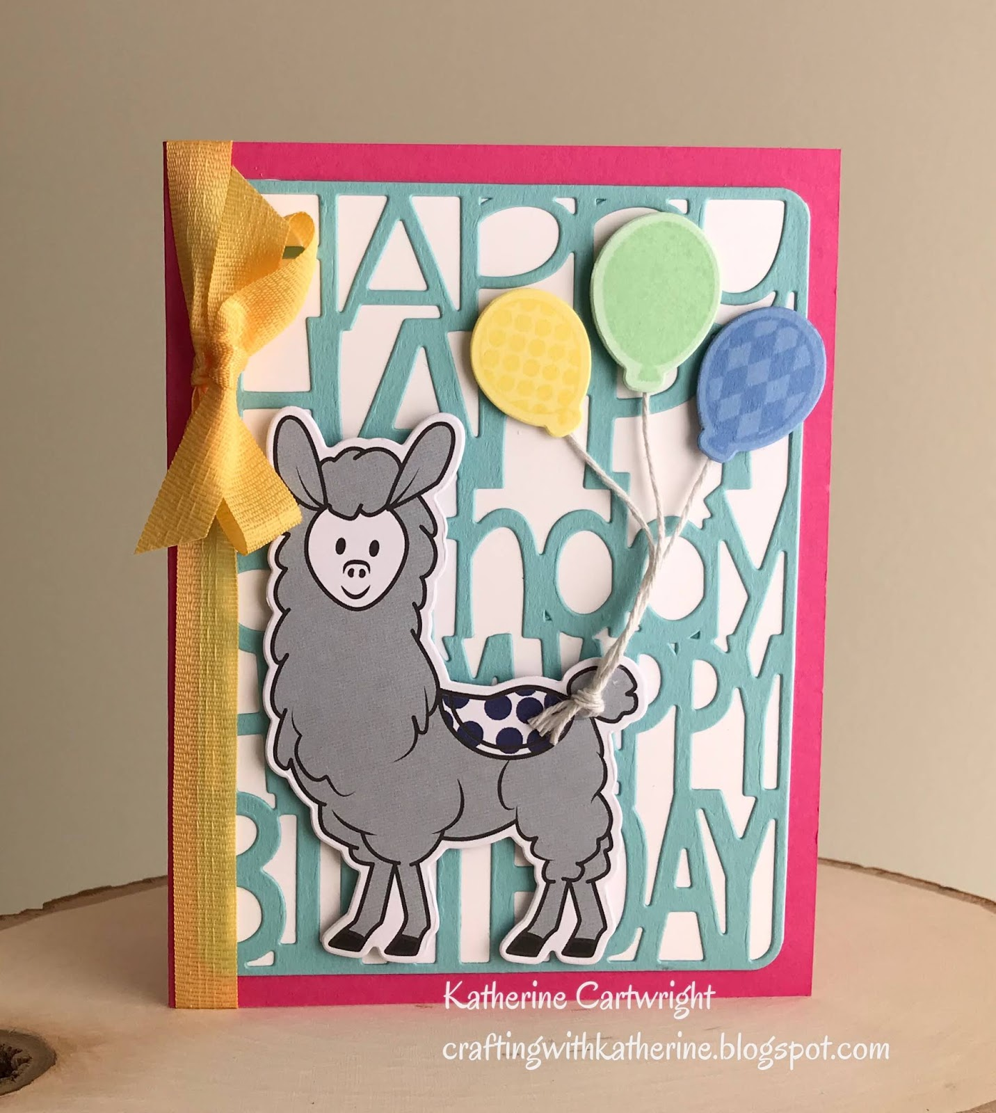 Crafting With Katherine Happy Birthday Llama From The Stamps Of Life