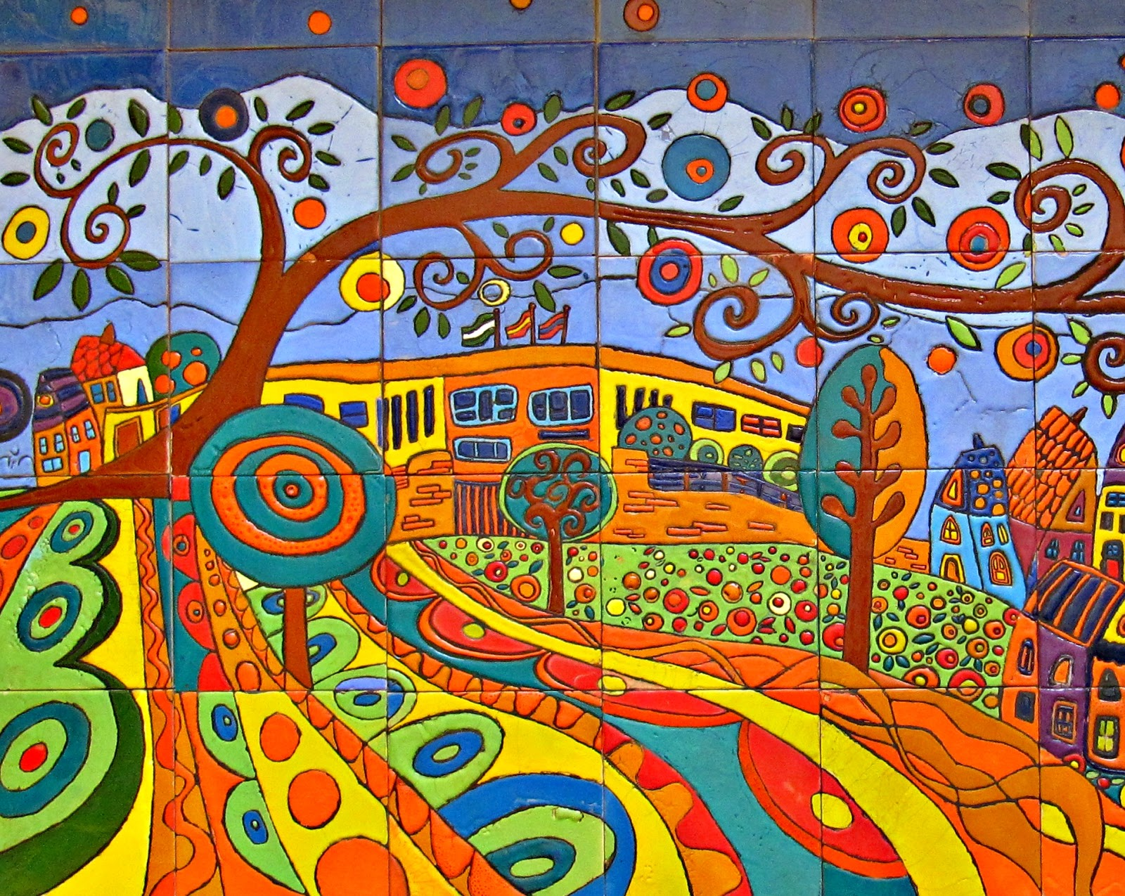 El arte de crear actividades de aula mural cer mico - Murales de ceramica artistica ...