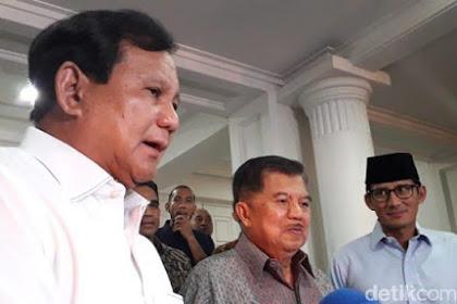 Prabowo Diminta JK Telepon Ucapkan Selamat Menang Pilpres 2019 ke Jokowi