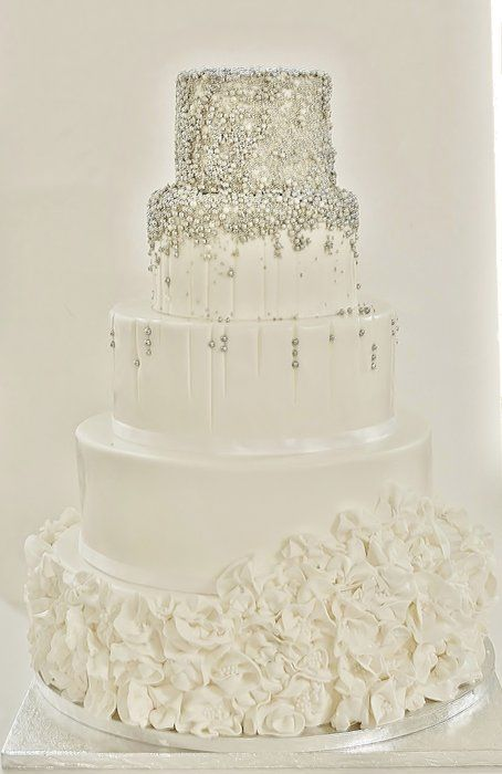 silver and white wedding cake ideas amp wedding wednesday white amp ivory cakes 19855