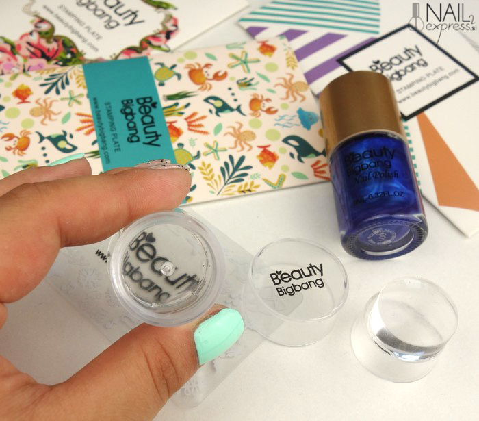 Beauty Big Bang-Double-end Silicone Clear Jelly Head nail stamper and scraper