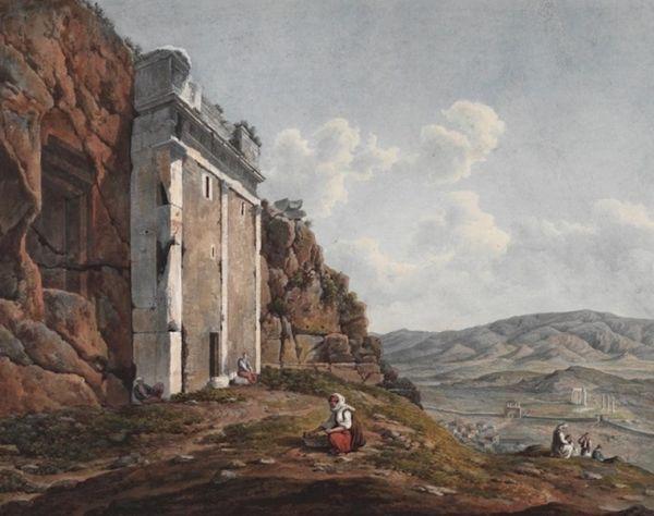 Το χορηγικό μνημείο του Θρασύλλου πριν την ανατίναξη του 1827