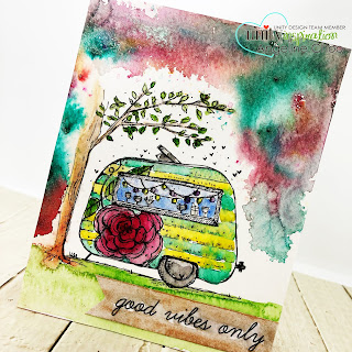 ScrappyScrappy: [NEW VIDEOS] Summer release with Unity Stamp - Good Vibes #scrappyscrappy #unitystampco #quicktipvideo #youtube #tonicstudios #nuvoshimmerpowder #aurorasky #watercolor #colorburst #campervan #caravan #goodvibes