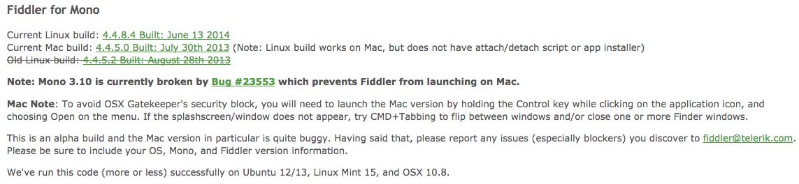 Fiddler Web Debugging running on Linux Mint | Michael Hidalgo