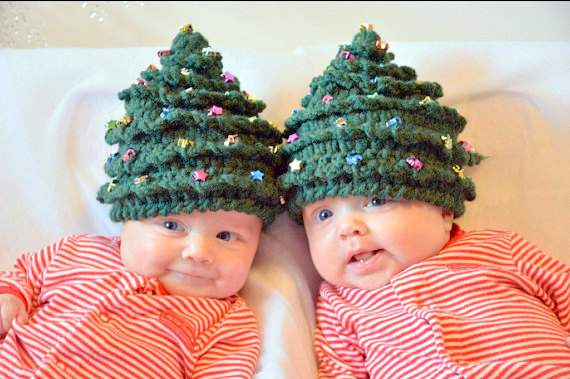 baby christmas tree hat crochet pattern