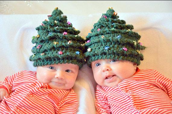 baby christmas tree hat Crochet pattern
