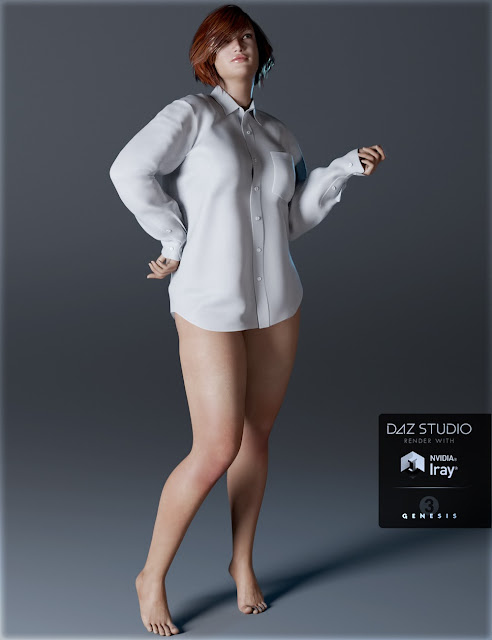 Men's Shirt for Genesis 3 Female