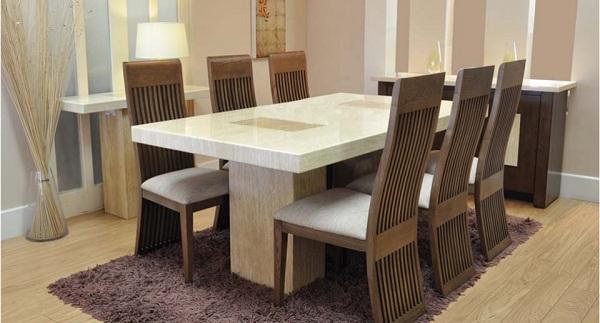 mẫu bàn ăn gỗ công nghiệp tại skyhome