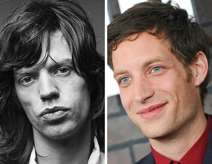 Mick Jagger e seu filho James
