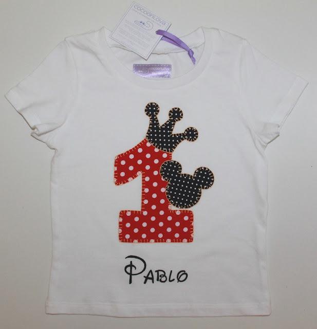 camiseta de cumpleaños 1 año mickey mouse