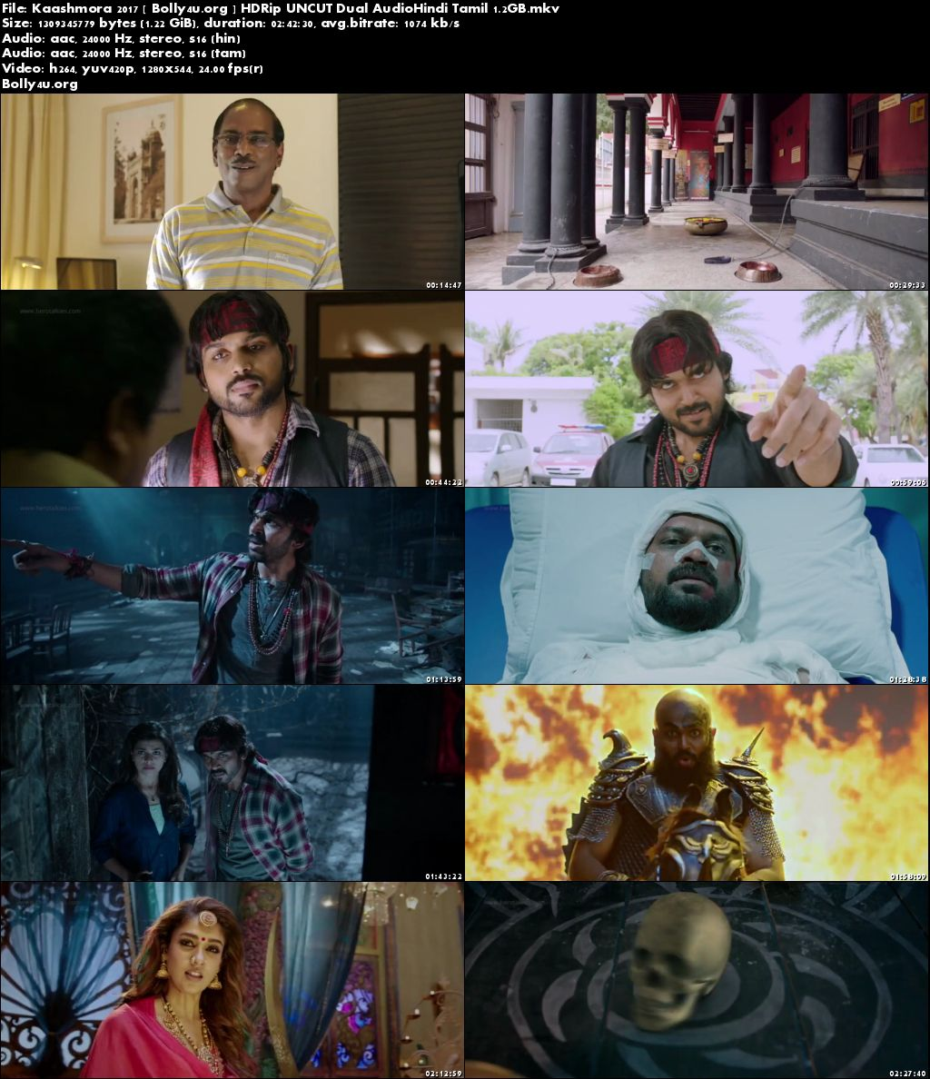Kaashmora 2017 HDRip 500MB UNCUT Hindi Dual Audio 480p Download