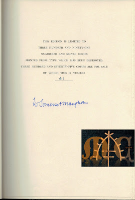 The Summing Up (1954) Limited Edition - Signature