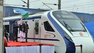 PM Modi flagged off Train-18 or Vande Bharat Express