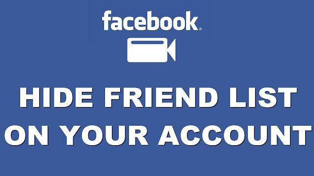 كيفية اخفاء قائمة اصدقائك على الفيسبوك فى خطوتين فقط 2018