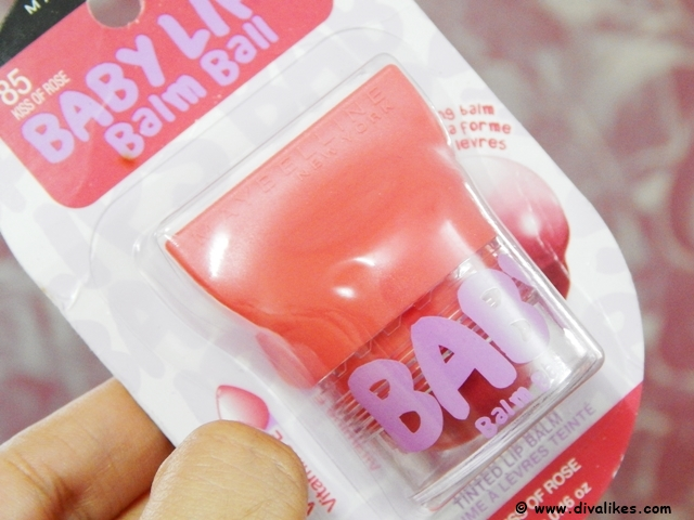 Maybelline Baby Lips Balm Ball Kiss Of Rose Shade