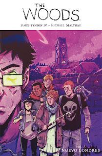 THE WOODS 3 NUEVO LONDRES  Comic Americado de James Tynion IV y Michael Dialynas