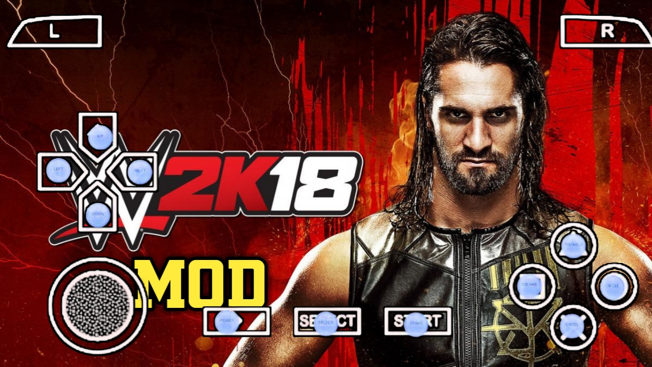 300MB)WWE 2K18 PPSSPP MOD GAME FOR ANDROID WITH BEST