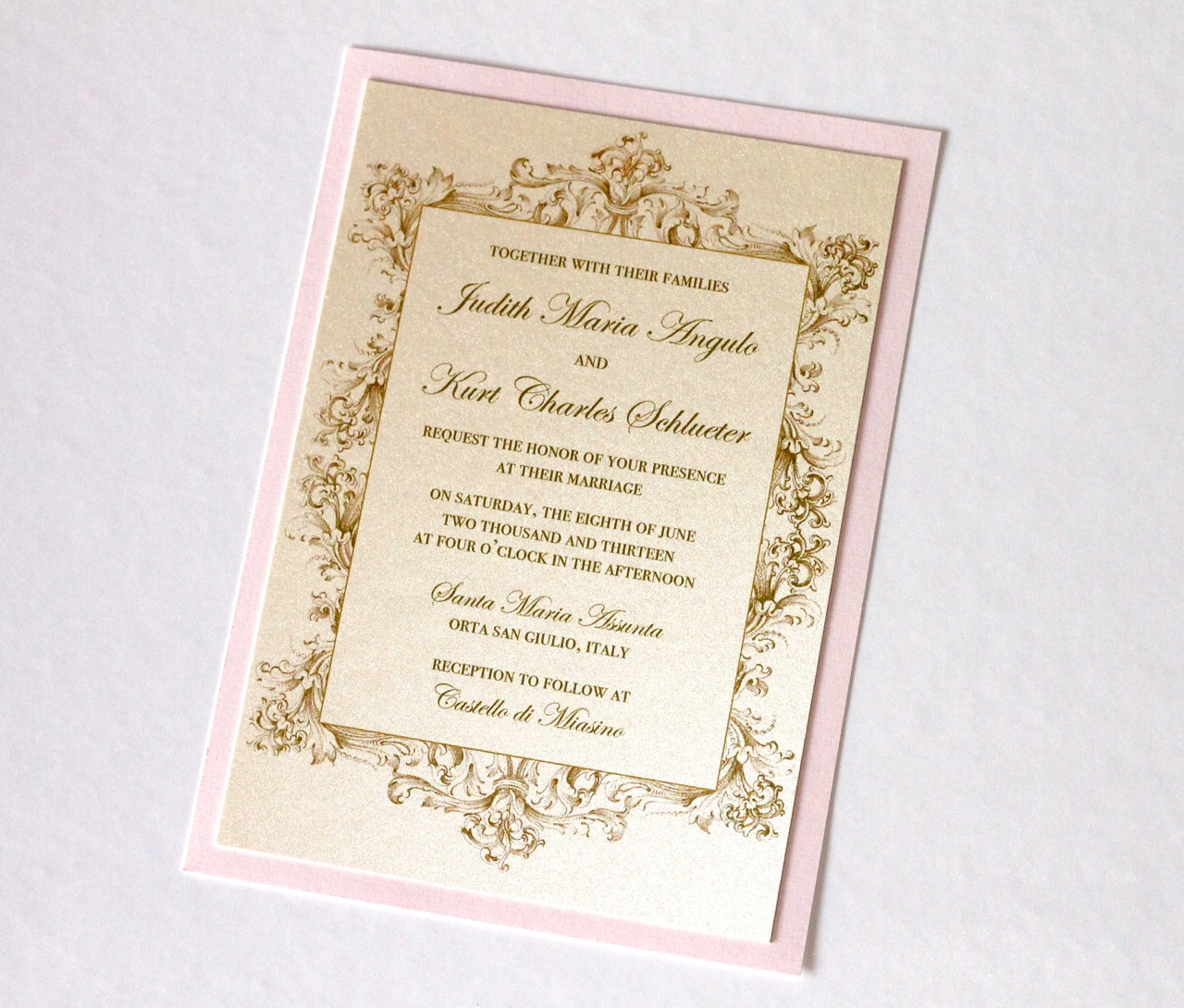 Embellished Paperie Blog Vintage Wedding Invitations In Ivory Gold And Blush Pink