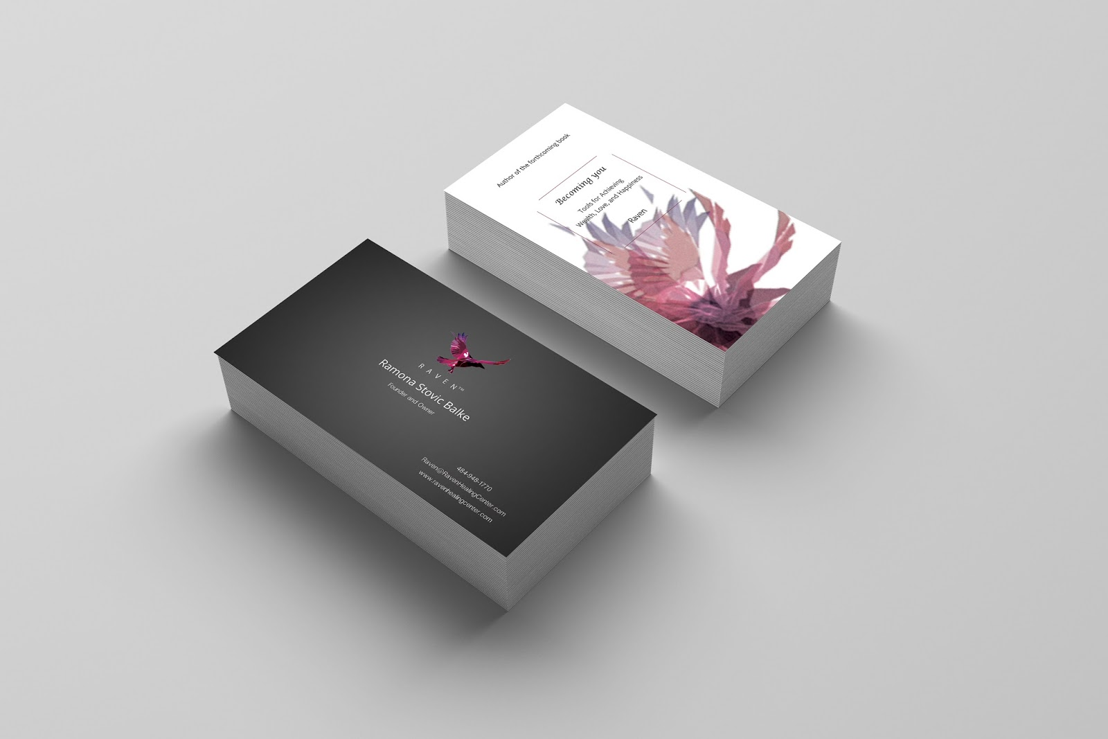 Clear business cards colourmoves