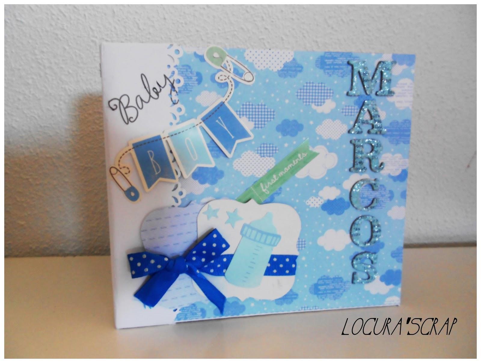 Locura 39 scrap blog dedicado al scrapbooking y manualidades lbum baby boy - Decoracion de album de fotos ...