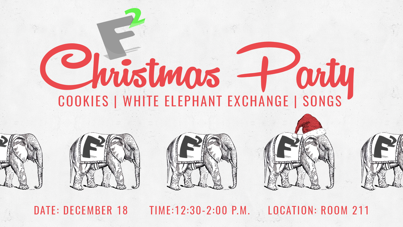 and have a white elephant gift exchange bring something from home or less than 5 please email me if your child will attend so that i can plan for - White Elephant Christmas Party
