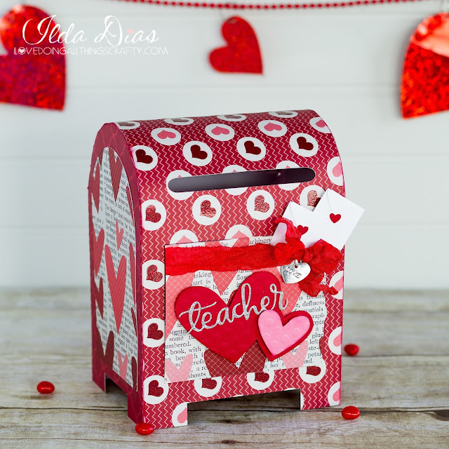 3D,SVGCuts files,#SVGCuts,Silhouette Cameo,Love Stamp and Cut Set from Hero Arts,Simon Says Teacher die,Valentine's Day Post Office Drop Box,teacher Gift,ilovedoingallthingscrafty,