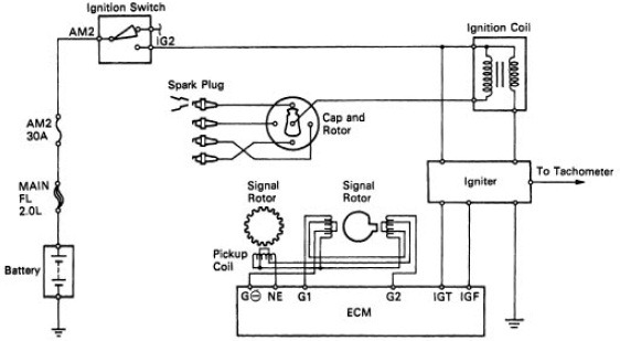 toyota ignition igniter wiring diagram
