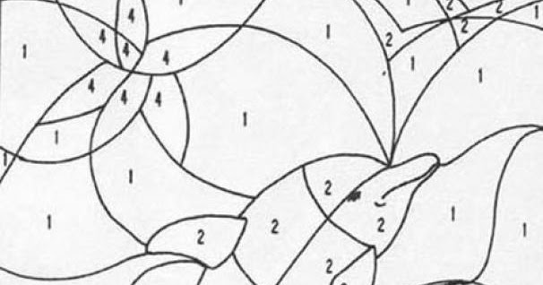 unknown color by number coloring pages | Coloring Page World: Color-by-number Dolphin