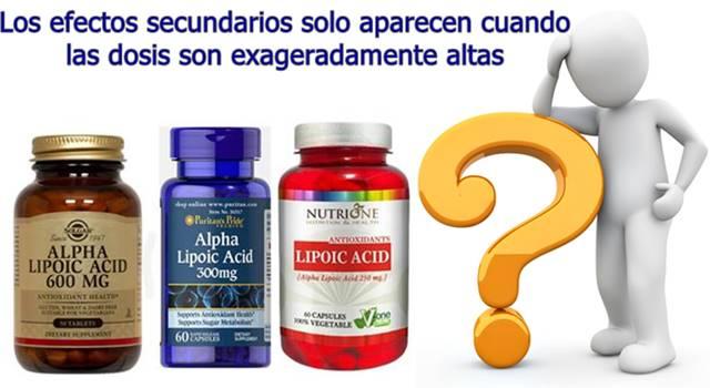 Efectos secundarios del ácido alfa lipoico