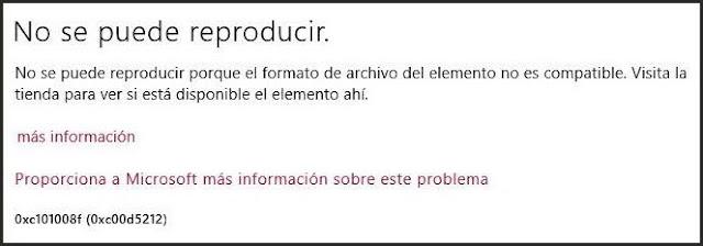 Windows 8 no abre 3gp