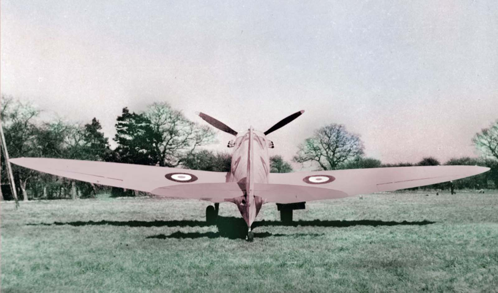 Spitfires used for photo reconnaissance missions during the day were usually painted blue, but those that went out at dusk or dawn were painted