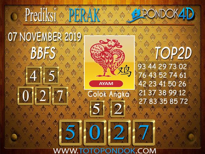 Prediksi Togel PERAK PONDOK4D 07 NOVEMBER 2019