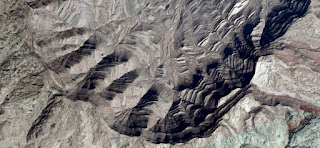 Mirage in the desert African giant tortoise shell, landscapes of deserts of Africa photographed from the air, collection Abstract Naturalism Munimara stone texture,